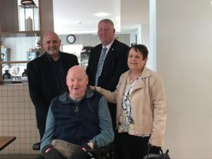 Willow Brook Extra Care_Ray Middleton with Cllr John Kelly and resident